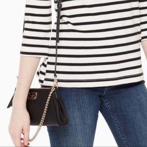 Kate Spade Black Nylon Crossbody Chain Bag